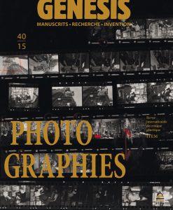 Genesis 40 – «Photo-graphies»