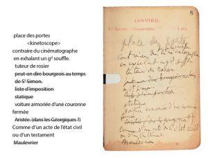 Proust, L'Agenda 1906 : publication de l'édition numérique