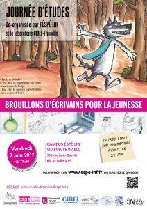 Journée d'études «Brouillons d'écrivains pour la jeunesse»