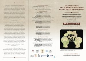 Traduire l'autre : pratiques interlinguistiques et écritures ethnographiques
