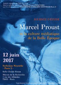Journée d'étude : Marcel Proust et la culture médiatique de la Belle Époque