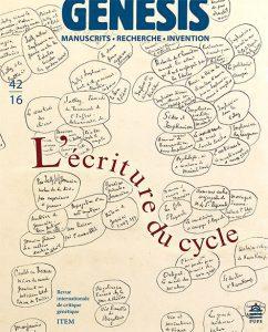 Séminaire général de critique génétique de l'ITEM : Autour du «Genesis» n° 42, «Écriture du cycle».