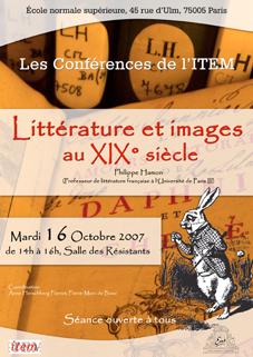 Conférences de l'ITEM : Philippe Hamon