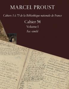 Edition diplomatique du Cahier 54 de Marcel Proust