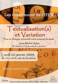 Textualisation(s) et variation Pour un dialogue renouvelé entre sciences des textes