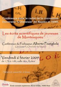 Les écrits scientifiques de jeunesse de Montesquieu