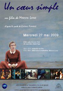 Présentation d' «Un cœur simple», film de Marion Laine, dans le cadre du séminaire « Genèses cinématographiques ».
