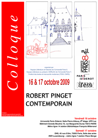 « Robert Pinget Contemporain »