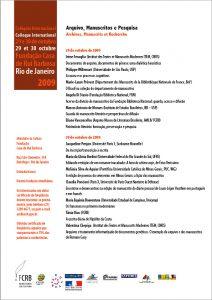 Arquivo, manuscrito e pesquisa archives
