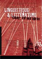 Driss ABLALI et Margareta KASTBERG SJÖBLOM (ED.) : «Linguistique et littérature. Cluny, 40 ans après»
