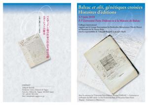 Balzac et alii, génétiques croisées – Histoires d'éditions