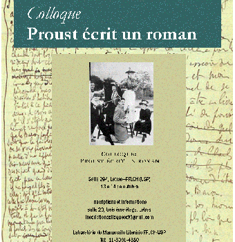 Colloque franco-brésilien, «Proust écrit un roman»