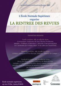 La rentrée des revues : Présentation à 18h du «Bulletin d'Informations Proustiennes»