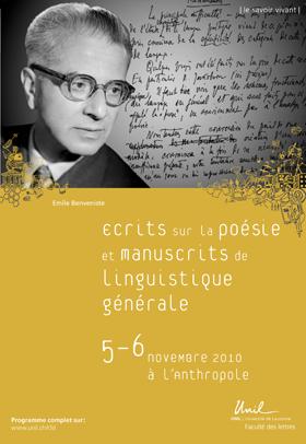 Ecrits sur la poésie et manuscrits de linguistique générale
