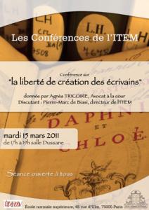 Agnès Tricoire, «Petit traité de la liberté de création»