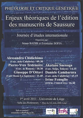 Philologie et critique génétique.  Enjeux théoriques de l'édition des manuscrits de Saussure