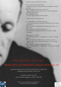 Merleau-Ponty ou la philosophie  à l'épreuve de l'écriture (II)