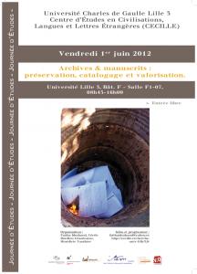 Archives & manuscrits :préservation, catalogage et valorisation.