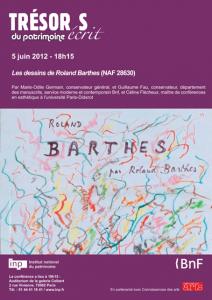 Marie-Odile Germain et Guillaume Fau : Les dessins de Roland Barthes