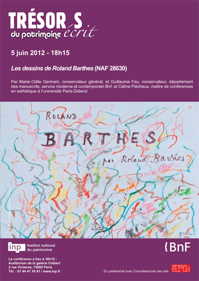 Marie-Odile Germain et Guillaume Fau : Les dessins de Roland Barthes