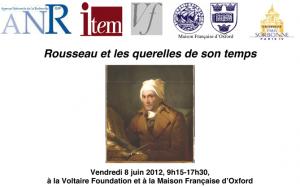 Journée d'étude : «Rousseau et les querelles de son temps»