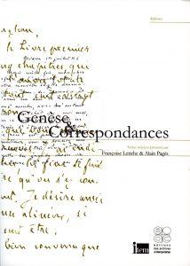 Françoise Leriche et Alain Pagès : «Genèse & Correspondances», Actes du séminaire général de l'Item