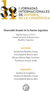 I jornadas internacionales de historia de la lingüistica