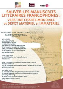 Sauver les manuscrits francophones en péril