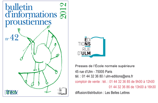 Bulletin d'Informations proustiennes n° 42, 2012