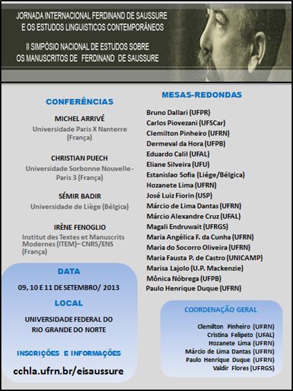 Journées internationales «Ferdinand de Saussure et les études linguistiques contemporaines»