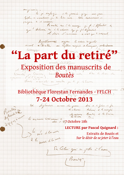 Colloque International Pascal Quignard. «La littérature hors frontières»