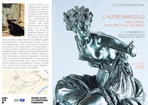 COLLOQUE INTERNATIONAL L'AUTRE MARCELLO.  ADELE D'AFFRY, SES ECRITS, SA VIE, SON SIECLE