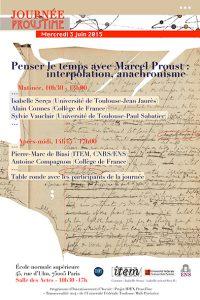 Journée ProusTime. Penser le temps avec Marcel Proust : interpolation, anachronisme
