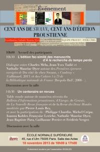 Cent ans de «Swann», cent ans d'édition proustienne