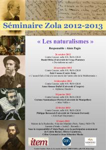 Zola  – «Les naturalismes» / 2012 – 2013