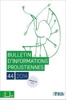 Bulletin d'informations proustiennes n°44