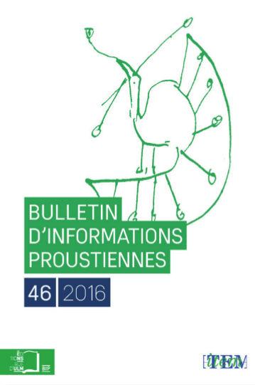 Bulletin d'informations proustiennes n°46
