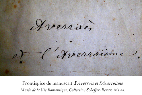 Renan. « Ernest Renan : aperçus génétiques » / 2013