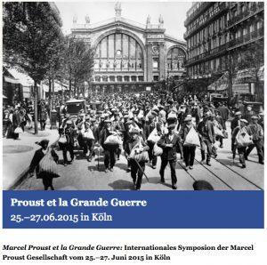 Colloque « Marcel Proust et la Grande Guerre »