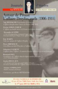 Journée d'étude « Autour de Proust : L'affaire Dreyfus, coda (1906-1914) »
