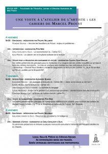Colloque « Une visite à l'atelier de l'artiste : les cahiers de Marcel Proust »