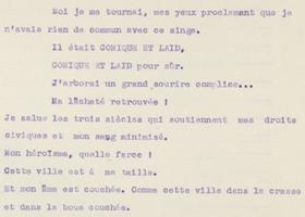 Manuscrits francophones. Séminaire : avant/inter textes, inter/avant textes : génétique et intertextualité  2017/2018