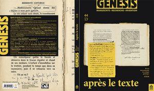 Cyrille FRANÇOIS (Université de Lausanne),  Christophe IMPERIALI (Université de Berne) et  Rudolf MAHRER (Université de Lausanne) :  «Présentation du numéro 44 de la revue Genesis»