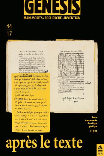 GENESIS 44 – Après le texte.  De la réécriture après publication