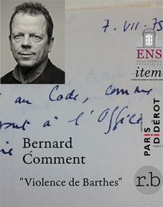 Bernard Comment, « Violence de Barthes »