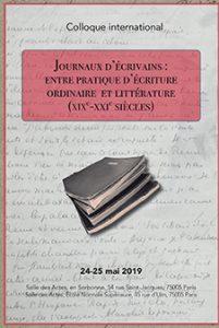 Journaux d'écrivains : entre pratique d'écriture ordinaire et littérature (xixe-xxie siècles)