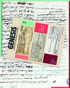 Pierre Musitelli (ENS/ITEM), Christian Del Vento (Université Paris III-Sorbonne nouvelle), Présentation du numéro 49 de «Genesis» « Une tradition italienne »