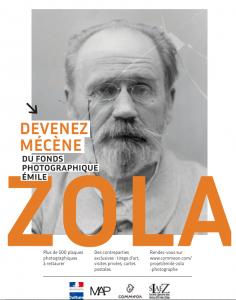 Mécénat individuel pour la restauration des plaques de verre photographiques d'Émile Zola