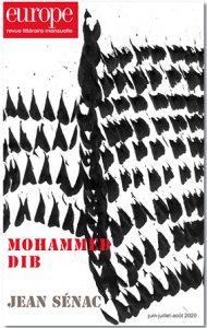 Revue EUROPE, «Mohammed Dib», Jean Sénac, coordonné par Hervé Sanson et Guy Dugas,