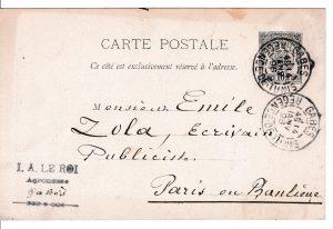 Ouverture au public de l'édition numérique des lettres internationales adressées à Émile Zola (plateforme EMAN)